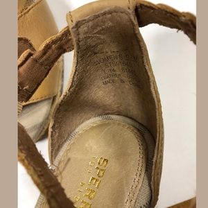 1d1fe636153 Sperry Top-Sider Skye Espadrille Wedge Tan Sz 9.5